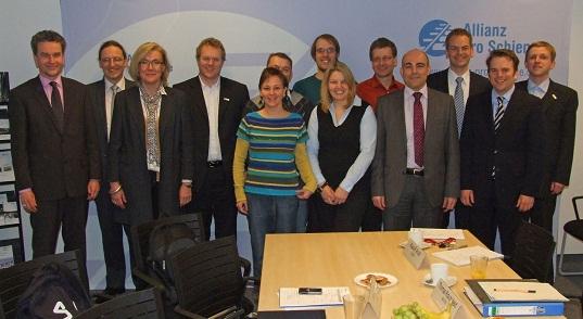 EUmobility Konsortialmitglieder beim Projekttreffen in Berlin bei AllianzProSchiene
